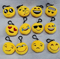 150pcs hot gift Keychain Cute Smiley Emoticon Amusing Key Chain Holder pp cotton eomji keychain for women men car bag pendant