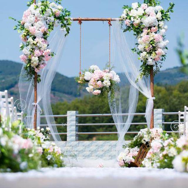 Flower Decoration Wedding: Artificial Flower Wall Wedding Backdrop Decoration Stage