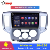2G RAM 32G ROM 9 inch Android 8.1 Car GPS Navigation For Nissan NV200 2014 2018 Support Stereo Audio Radio