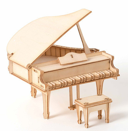 Laser Cutting DIY Grand Piano Toys 3D Wooden Puzzle Toy Assembly Model Wood Craft Kits Desk Decoration For Children Kids