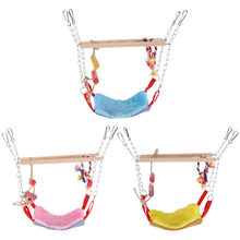 Pets Birds Parrot Toys Climbing Toy Colorful Swing Ladder Bed Accessories Hanging Decor Chew Decoration Bird Toys Pet Supplies(China)