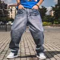 Homme Lâche Fit Jeans Grande Taille 30-46 Hiphop Planche À Roulettes Jeans Baggy pantalon Denim Pantalon Hip Hop Hommes Ad Rap Jeans 4 Saisons