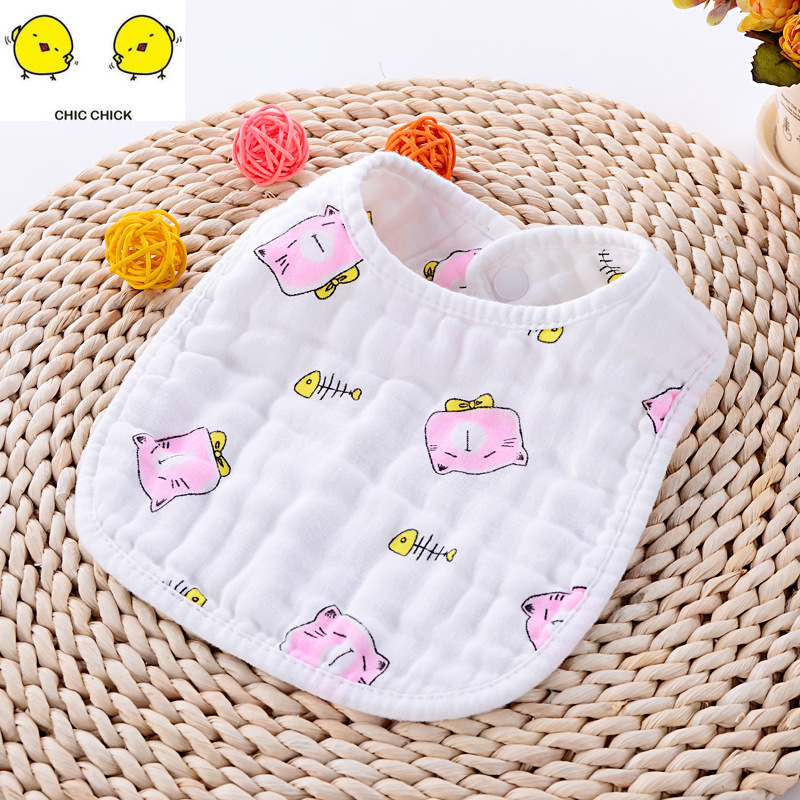 Cotton Bandana Bibs Baby Feeding Burp Cloths Cartoon Saliva Towel Baby Eating Accessory Soft Baby Stuff in Bibs Burp Cloths from Mother Kids