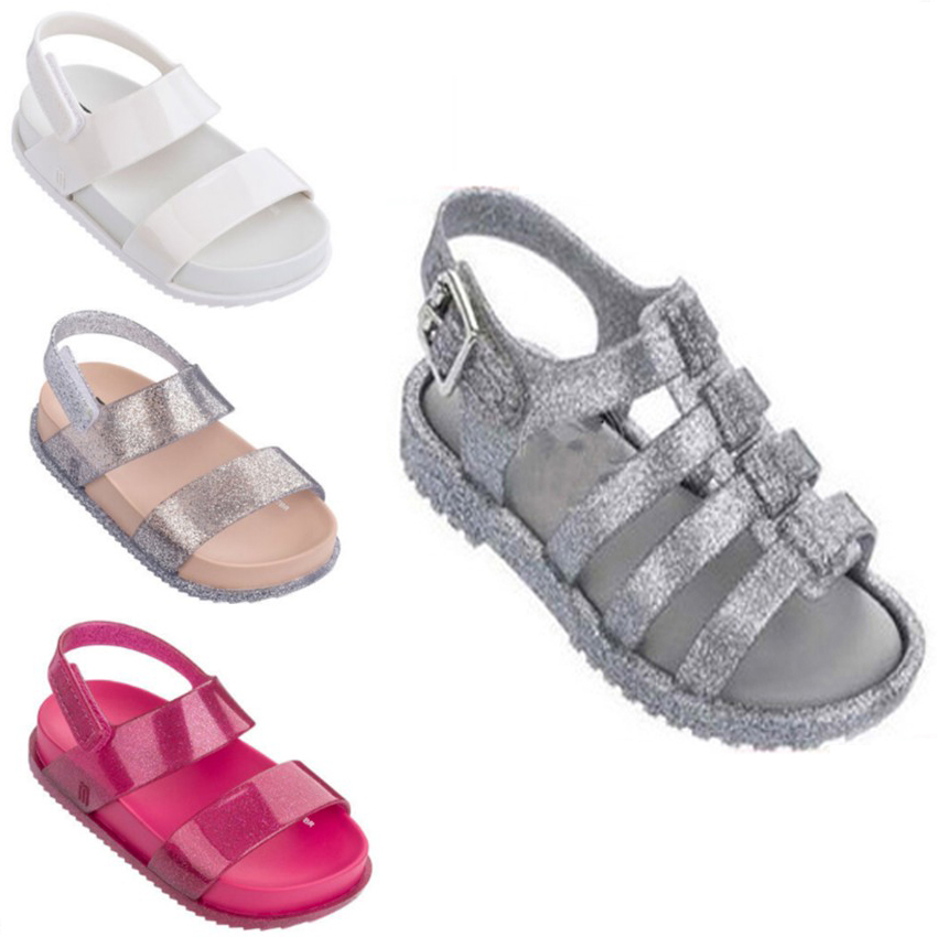 Mini Melissa Jelly Shoes Mermaid Princess Sandals Girls Sandals Shoes  Melissa Princess Shoes Anti-Skid ... Summer Style Man Beach Boys ... 5bcef96b9462