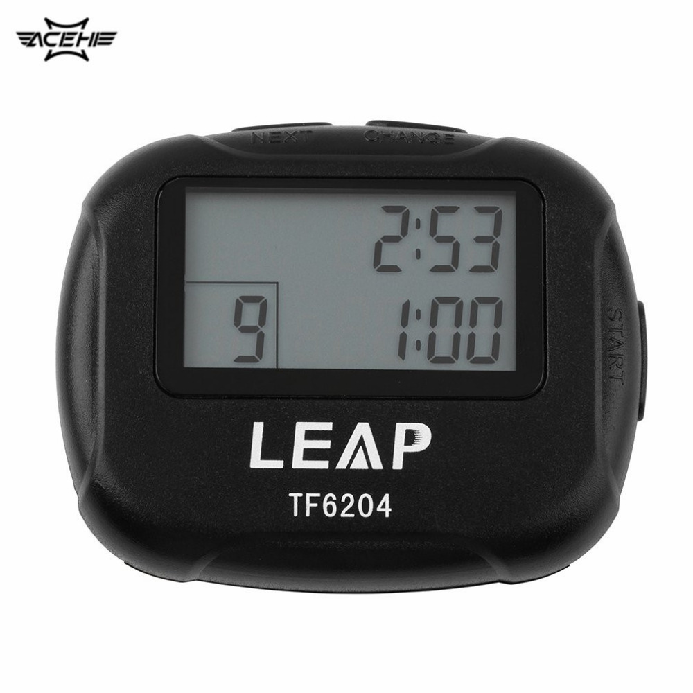 Interval Timer Temporizador Training Elektronica Segment Stopwatch Interval Chronograaf voor Sport Yoga Cross-fit Boxing GYM