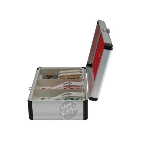 Caixa de dinheiro de alumínio do contador