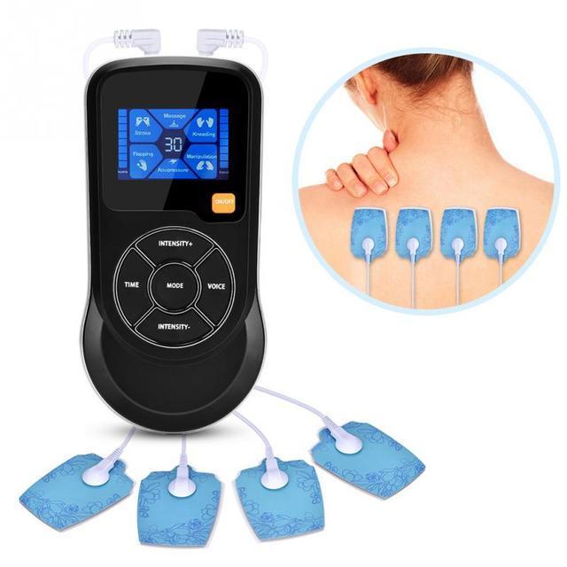 חכם שרירים Electrostimulator בקרת קול עיסוי 6 מצבי 15 רמות עוצמה עם USB Cha