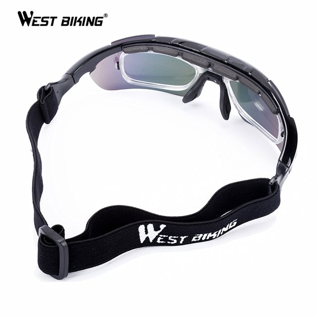 WEST BIKING Cycling Glasses 5 Lens Windproof Anti-fog With Mypia Frame Sport