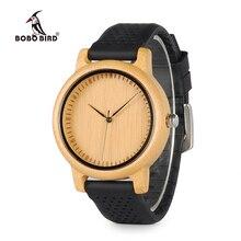 BOBO B08 PÁSSARO Relógio De Madeira De Bambu Das Senhoras de Quartzo Relógios de Luxo Com o Colorido Tiras de Silicone relojes marca de lujo mujer 2017