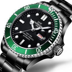 Marka luksusowy zegarek karnawał mężczyźni GMT automatyczne mechaniczne zegarki męskie Luminous Sapphire nurkowanie męskie ze stali nierdzewnej zegarek C-87562