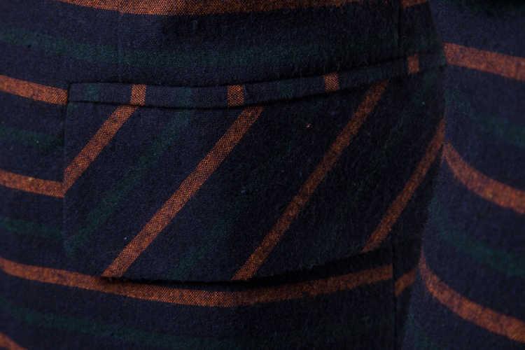 ブランド男性のファッションデザインのファッションストライプブレザー花婿の付添人の結婚式ハイグレードスーツ最新コートドロップシッピングトップ服