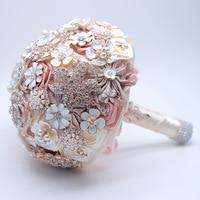 Handmade Bride Bouquet Jewelry Beads Artificial Bridal Holding Flowers Bridesmaid Bouquet Wedding Bouquet Brooch Accessories