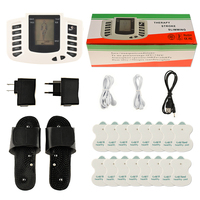 Russian Button Slipper+16pcs Electrode Pads Electrical Muscle Stimulator Body Relax Massager Pulse Tens Acupuncture Machine