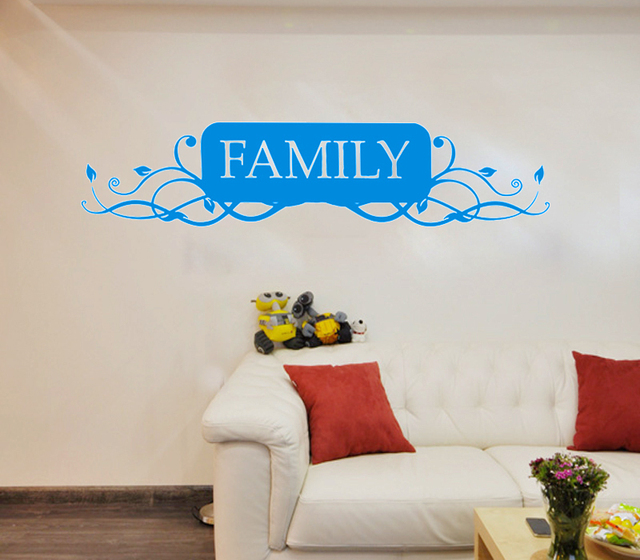 Big Family tree Branch frame Hanging sign adhesive Wall Stickers ...