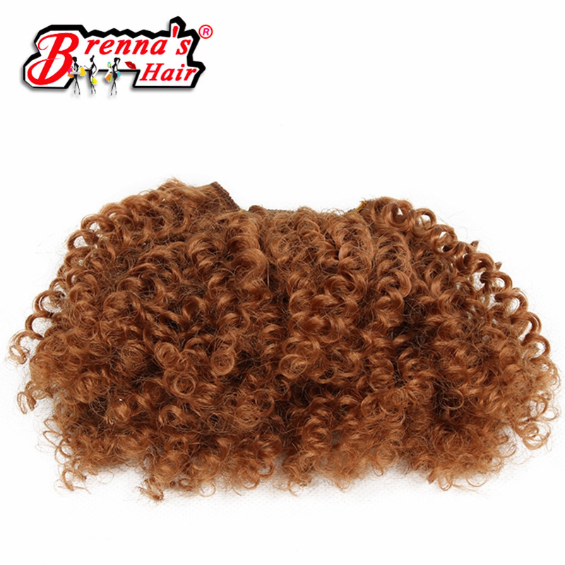 Eunice Synthetic kinly curly hair weaving natural and soft 2bundles/pack brown/burgundy/#27/#30 color can be choose 8 inch
