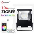 GLEDOPTO ZIGBEE 10 W Reflector LED RGB + AAC blanco cálido y blanco zigbee luz enlace AC110-240V de la UE es enchufe de trabajo con echoplus