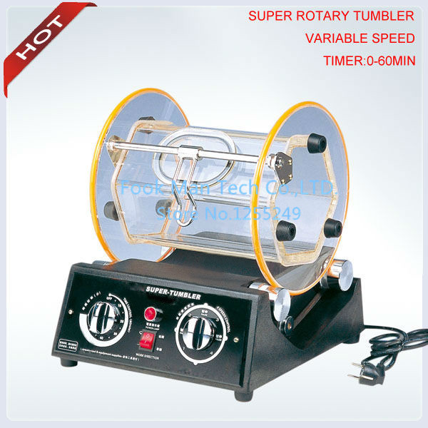 Foru Stage Speed Adjustment Heavy Type Rotary Tumber , Time Tumbling (0 60 minutes),Jewelry Tools.High quality .Low price