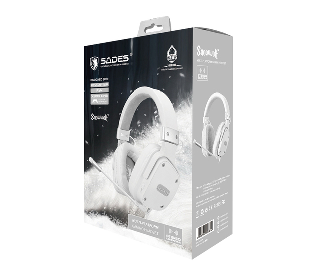 SADES Gaming Headset Snowolf 3.5mm Jack For PC/laptop/PS4/Xbox One (2015 Version)/Nintendo Switch/VR/Mobile 6