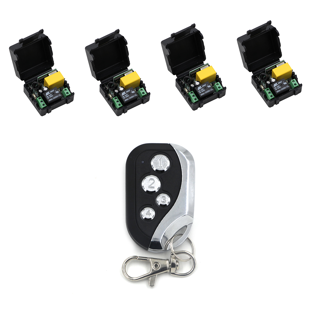 220V AC 1CH Mini Wireless Remote Control Switch 10A Relay Small Receiver Light Lamp LED Bulb Remote Lighting Switch 315 /433MHZ ac 85v 250v wireless remote control switch remote power switch 1ch relay for light lamp led bulb 3 x receiver transmitter