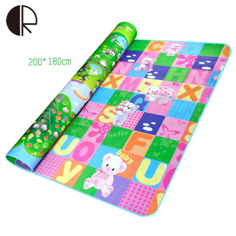 20018005cm children play mats for kids baby carpet educational toys doulble site bear giraffe dinosaur car crawling mat