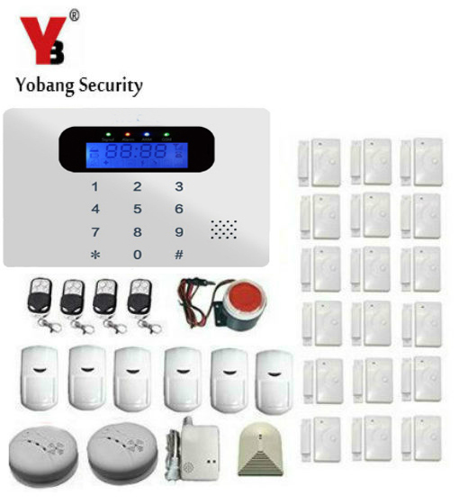 YobangSecurity Home Security System Wireless GSM Remote Control Voice Prompt Burglar Alarm House Business Surveillance System wireless smoke fire detector for wireless for touch keypad panel wifi gsm home security burglar voice alarm system