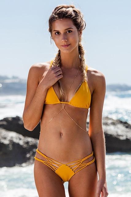 Biquine Womens 2018 Brazilian Departure Beach May Bikinis Set Retro Sex Bath Bikini Swimwear Female Tops