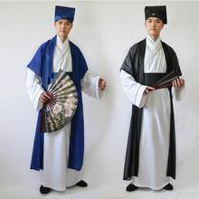 2019 new mens hanfu costume cosplay clothes chinese traditional dance clothing boy male ancient robe folk