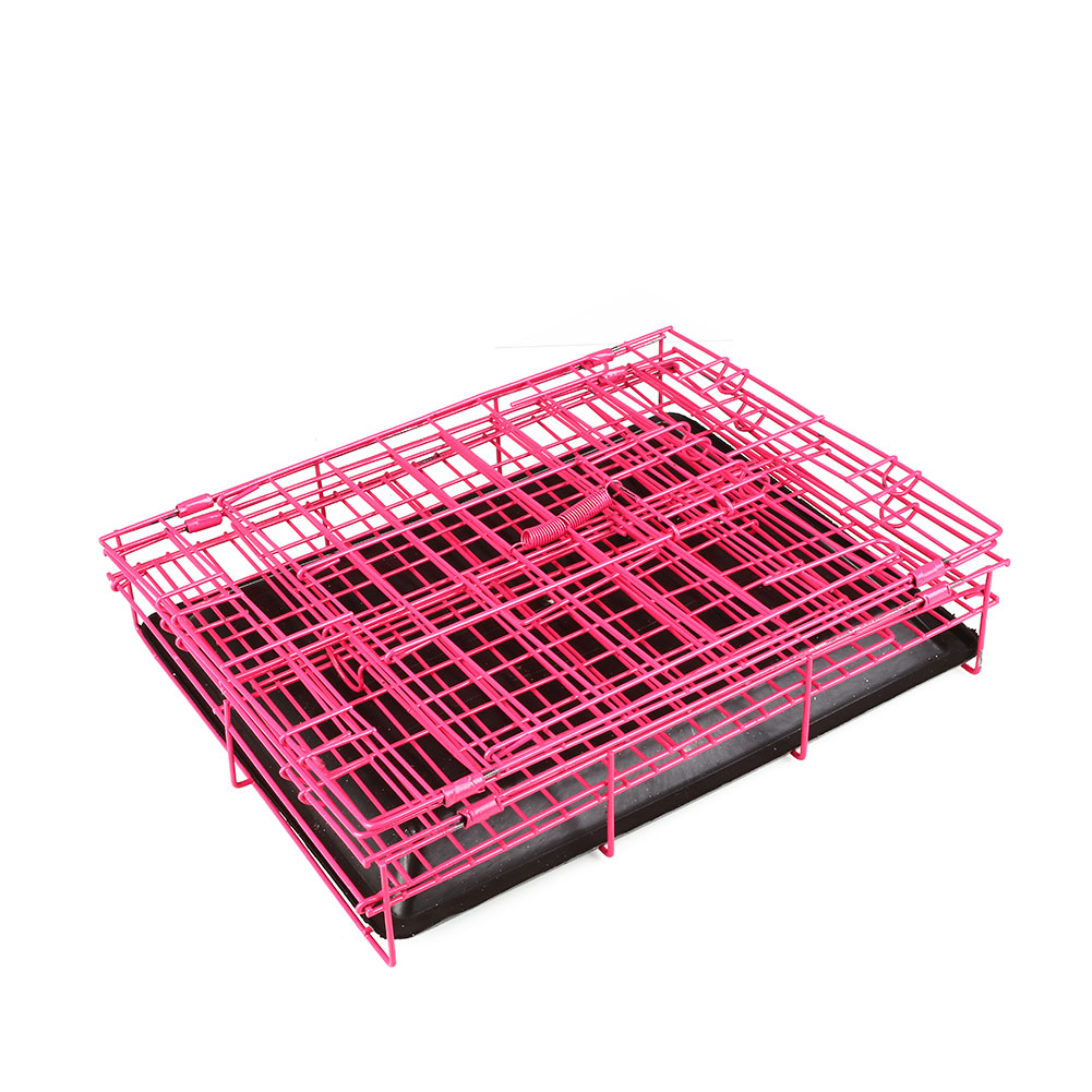 2-Door-Pet-Dog-Metal-Collapsible-Wire-font-b-Cage-b-font-Crate-Kennel-with-font