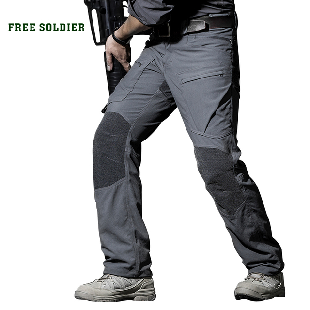 FREE SOLDIER Outdoor sports tactical military cargo pants men's trousers wear-resistant casual pants for camping hiking