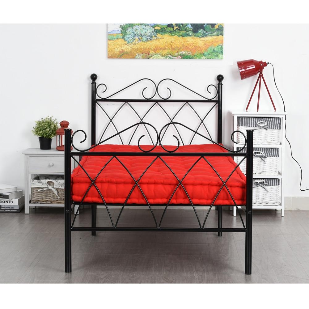 Aingoo 3ft Single Metal Bed Frame Solid Bedstead Base for Kids Adults, Black living Room Furniture Twin Size Bed Frame for Home
