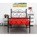 Aingoo 3ft Single Metal Bed Frame Solid Bedstead Base for Kids Adults, Black living Room Furniture Twin Size Bed Frame for Home