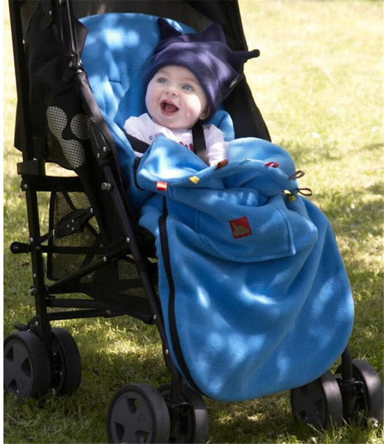 2016  Baby Warm Envelope Newborn Boy Girl Stroller Fleece Sleeping Bag Kids Footmuff Sack Infant Pushchair  Children sleepsack