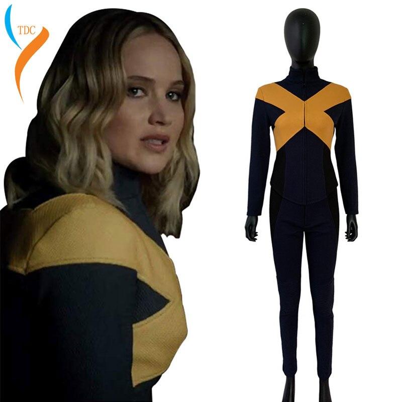 2019 x-men foncé Phoenix Jean gris Cosplay Costume combinaison veste uniforme Costume Halloween carnaval Costumes super-héros fête Cos