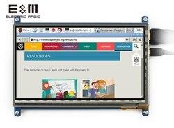 E & m 7 Polegada 800x480 tela de toque capacitivo ips tela toque monitor lcd módulo hmdi portátil raspberry pi 3 b windows 10 linux