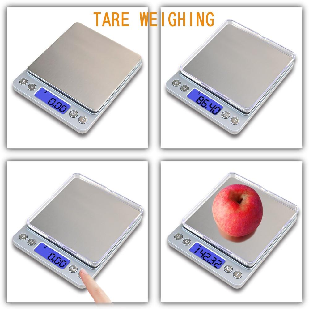 Przenośne wagi kuchenne Precyzyjna elektroniczna waga cyfrowa Mini - Przyrządy pomiarowe - Zdjęcie 4