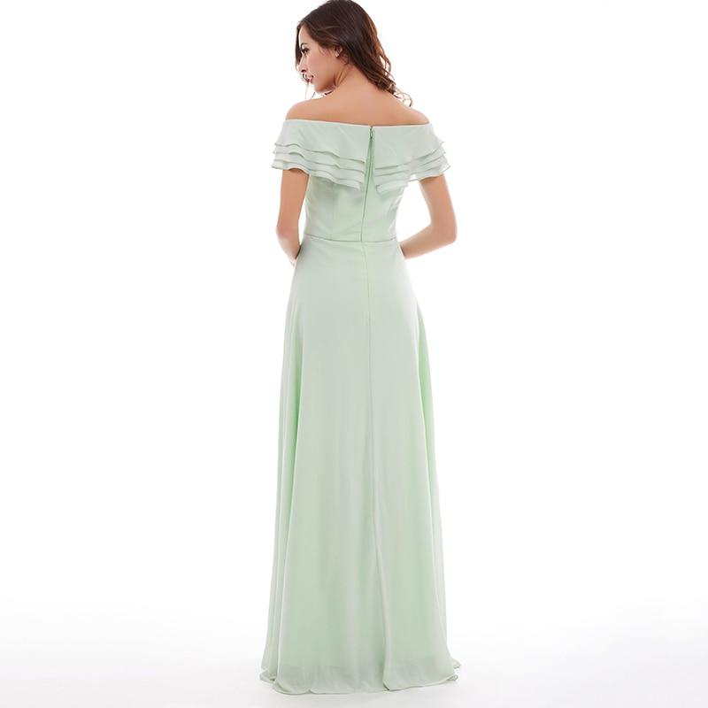 Tanpell longueur de plancher en mousseline de soie menthe robe de bal - Habillez-vous pour des occasions spéciales - Photo 3
