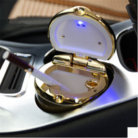 Car Styling Car Cigarette Ashtray With LED Lamp For Toyota Prius Levin Crown Avensis Previa FJ
