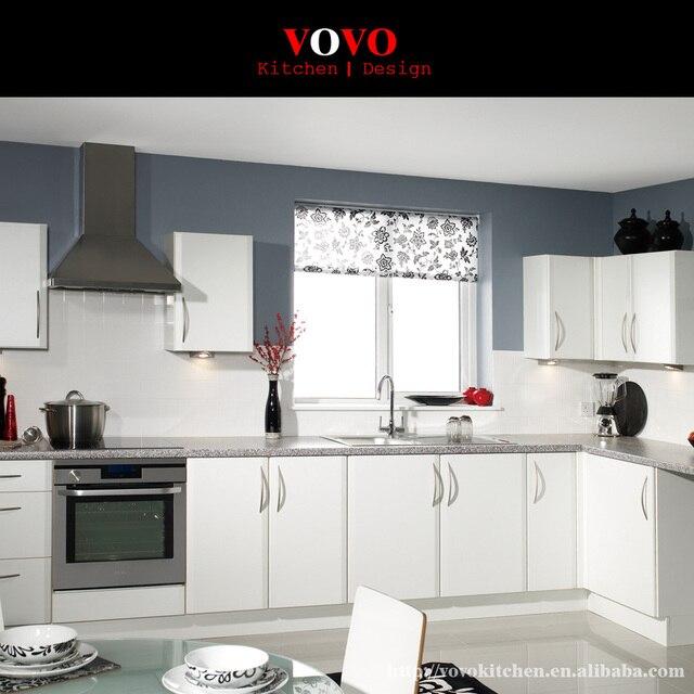Lindo blanco laca acabado Gabinete de la cocina moderna en Gabinetes ...