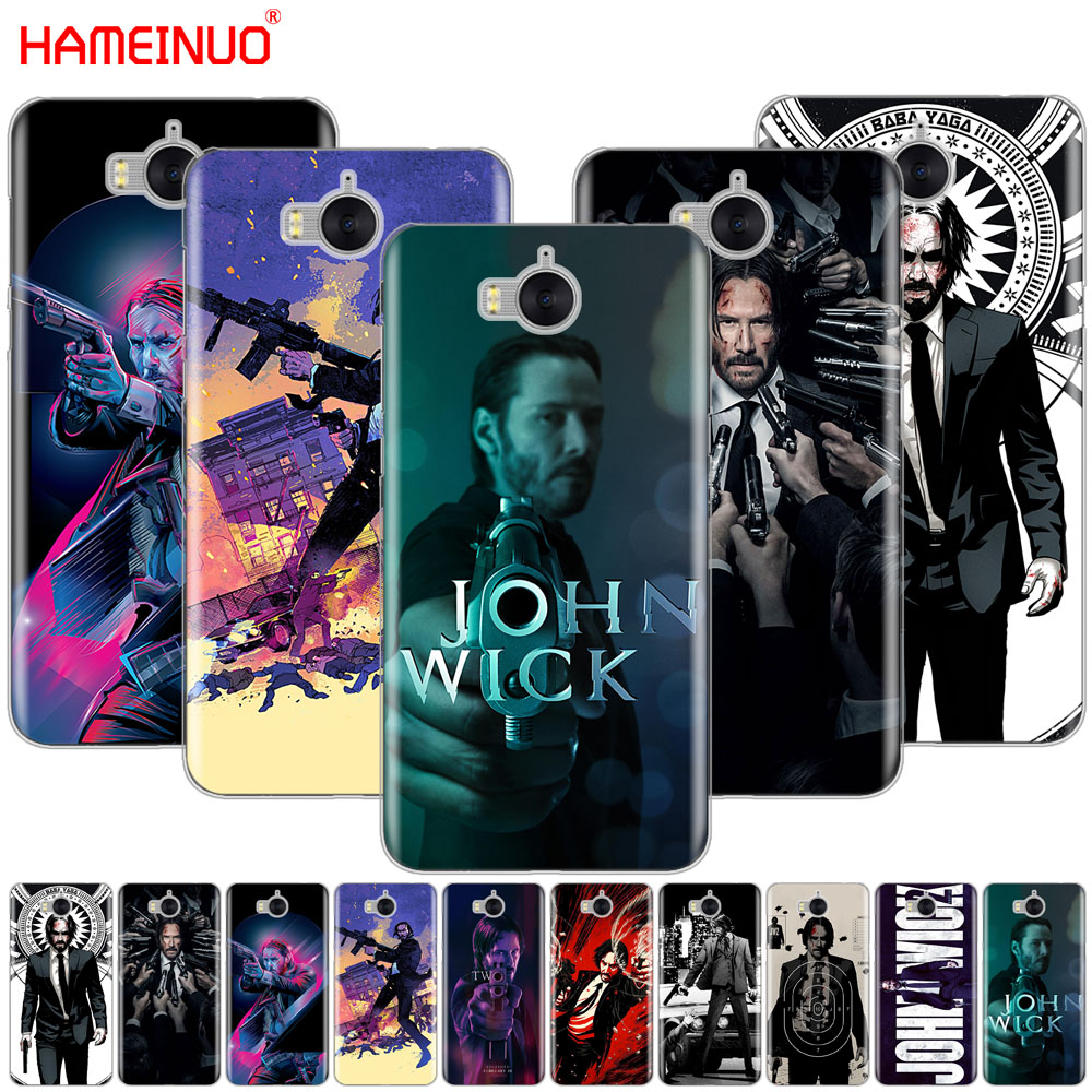 HAMEINUO John Wick cell phone Cover Case for huawei honor 3C 4X 4C 5C 5X 6 7 Y3 Y6 Y5 2 II Y560 2017