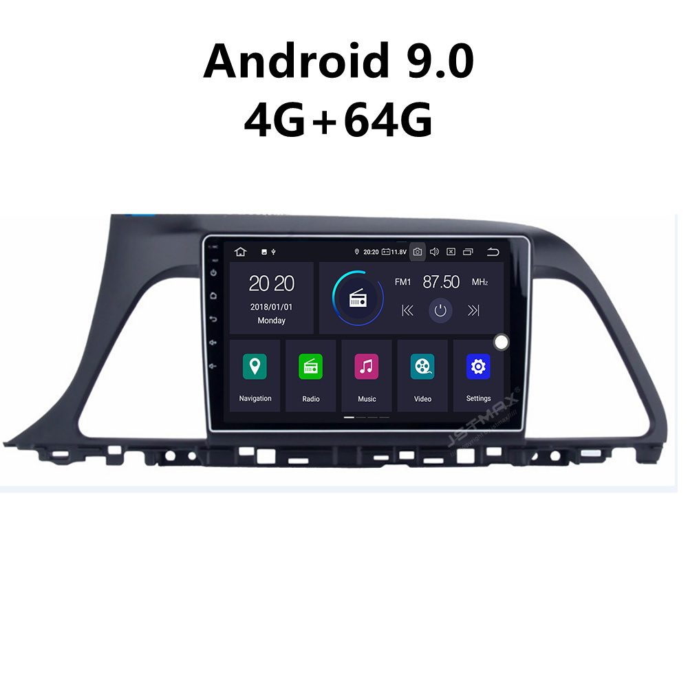 JSTMAX 9 ''Android 9.0 4G + 64G ISP Bildschirm Auto DVD Radio Stereo-Player Für <font><b>Hyundai</b></font> <font><b>Sonata</b></font> <font><b>2015</b></font> 2016 2017 Radio image