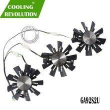 New Graphics card fan gtx 1080 Fan GA92S2U for ZOTAC GTX1080 eth mining Video Card Cooling