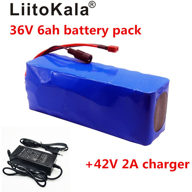 LiitoKala 36V 6ah 500W 18650 lithium battery 36V 8AH Electric bike battery with PVC case for