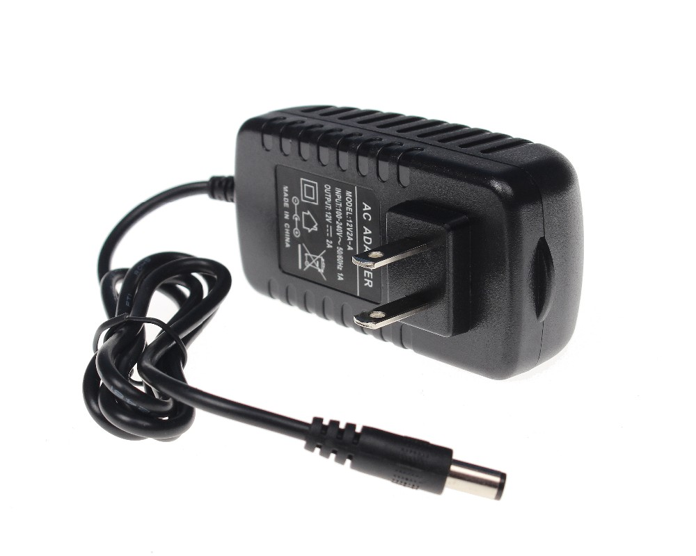 US 12V 2A Power Supply AC 100-240V To DC Adapter Plug For CCTV Camera / IP Camera Surveillance Accessories new universal ac 100 240v us plug for dc 12v 2a 24w power supply adapter charger for led strips cctv security camera