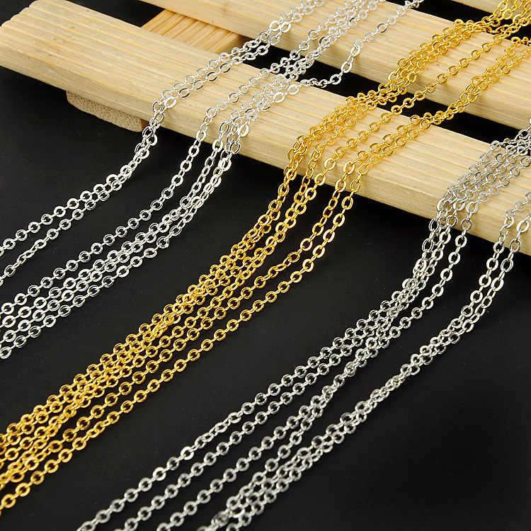 Oro plata rodio Color bronce cadenas a granel accesorios joyería cobre O cadena forma DIY collar pulsera pendientes hallazgos