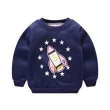 Осенне-зимний свитер для маленьких мальчиков и девочек; теплая гигиеническая одежда без шляпы