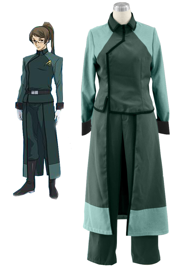 Free Shipping Gundam00 A-Laws Female Uniform Anime Cosplay Costume