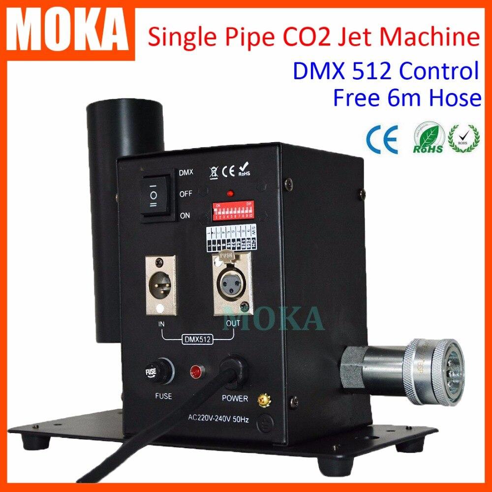 Yhden putken CO2-suihkukone DMX CO2 -laite, jossa 6 m letku / vaihe-CO2-sarake savukoneen CO2-ase