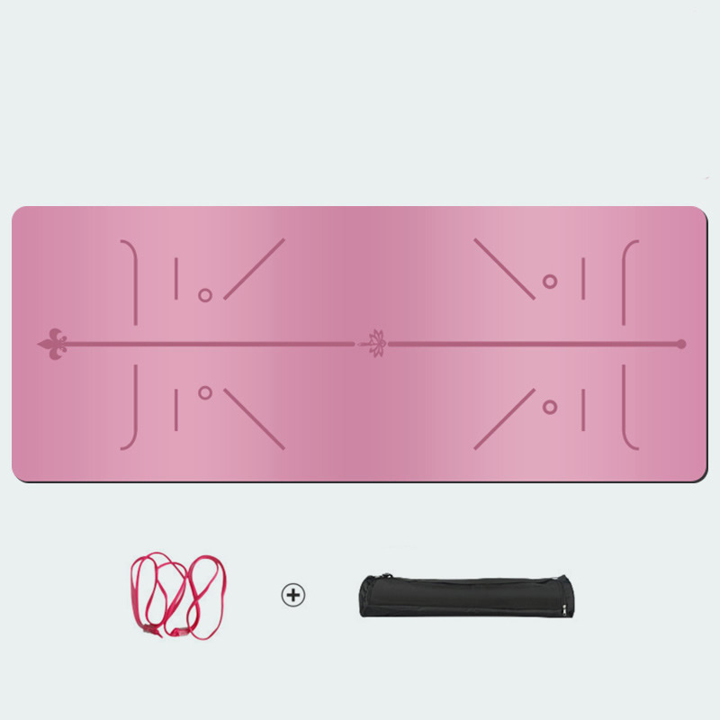 ПУ + резиновый коврик для йоги 5 мм расширенный профессионально-спортивный фитнес нескользящий коврик для йоги с линией тела для дома тренажерный зал тренировки фитнес бесплатная сумка
