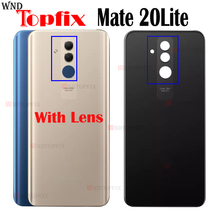 New For Huawei Mate 20 Lite Battery Cover Back Glass Panel Rear Door Housing Case Mate 20Lite Battery Cover 20 Lite Replace