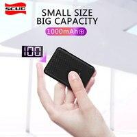 Scud LED mini 10000mAh power bank led digital display small for xiaomi powerbank external battery usb fast charger portable slim